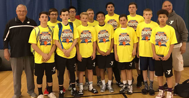 The Wyckoff Family YMCA's eighth grade boys AAU basketball team went undefeated over the weekend in its tournament win.