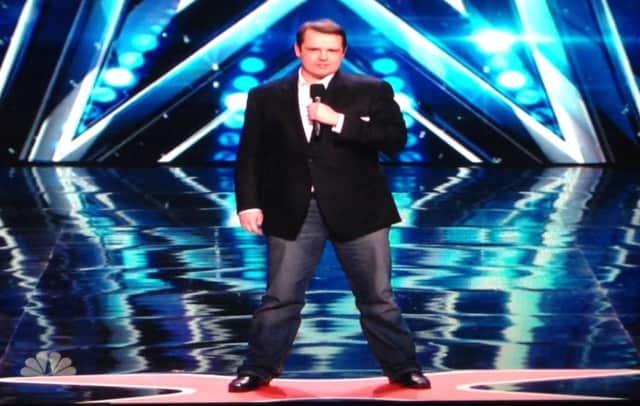 "Waldwick resident Scott Churchson on ""America's Got Talent."""