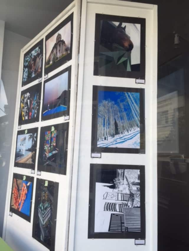 A photography exhibit from Rye High School students is being displayed on Purchase Street.