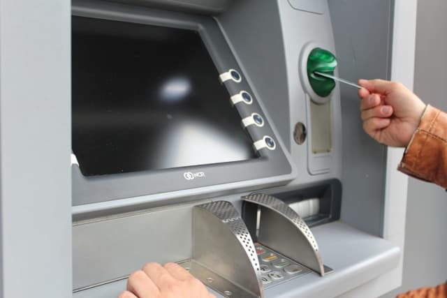A deliveryman claims a Paramus ATM took nearly $6,000 in cash.