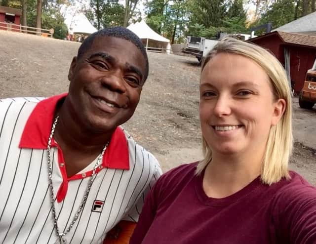 Tracy Morgan visited Abma's Farm in Wyckoff Wednesday.