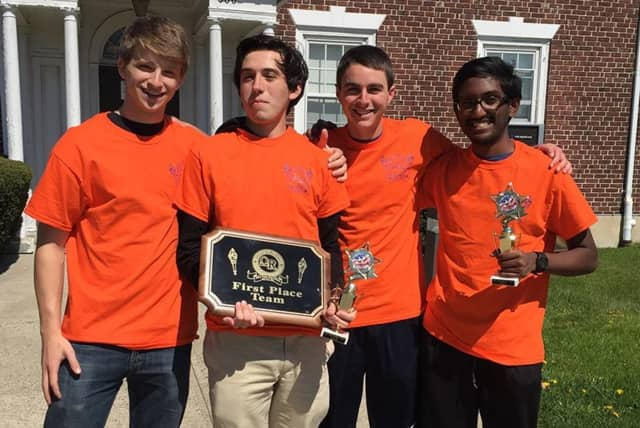 Briarcliff High School's Academic Challenge A team won the annual Omar Q. Beckins Academic Challenge competition for the third year in a row.