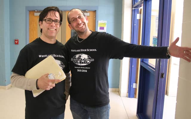 Advisers of Westlake High's Science Olympiad team are Ray Szczerba and Tom Hall.