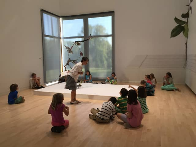 Students from the Wooster School recently visited the Aldrich Contemporary Art Museum.