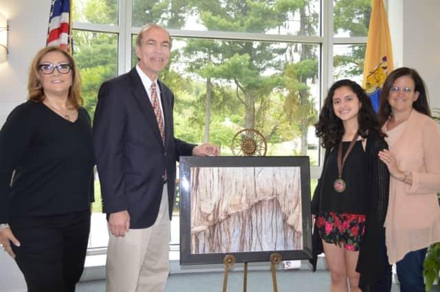 "Alexandra Gutierrez was honored by Congressman Scott Garrett for her piece, ""Split Vision."""
