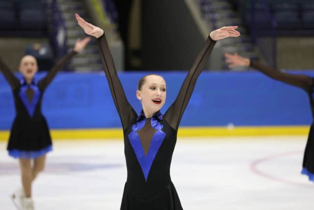 Allison DeLae is one of two Mamaroneck High School girls who qualified for the National Synchronized Skating Championships in Oregon in February.