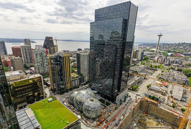 Amazon headquarters in Seattle.