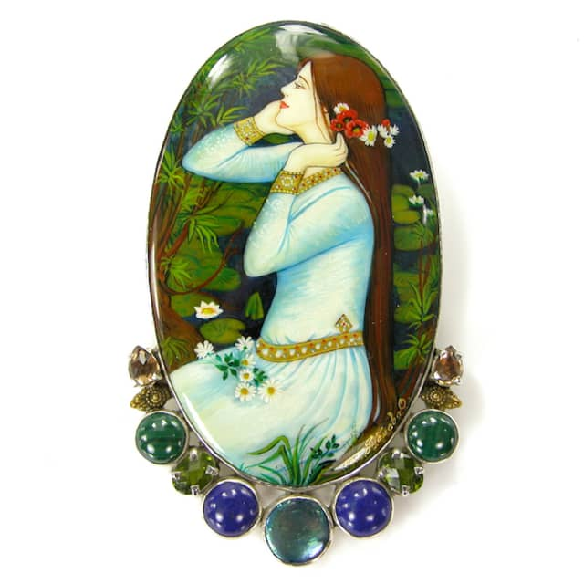 Here, examples of her unique jewelry designs.