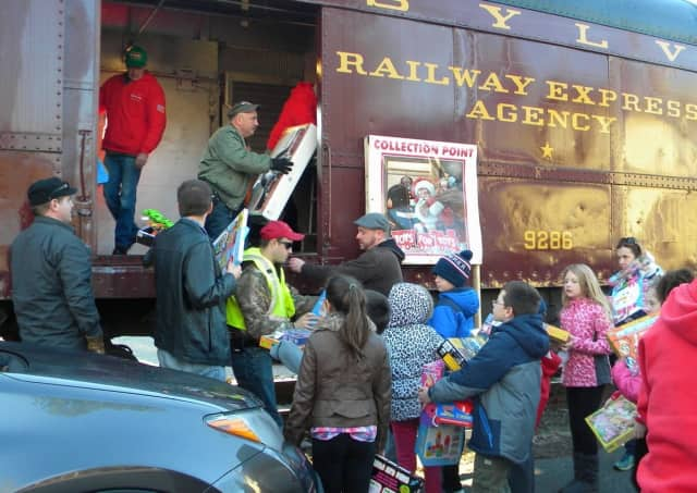 Operation Toy Train will make stops in Bergen and Passaic Saturday.