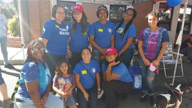 THS Animal Appreciation club members Macey, Arinola, Maiya, Ashley, Nia, Amanda, Makaila, Magdalena (missing from picture) and their advisor Mrs. Acevedo.