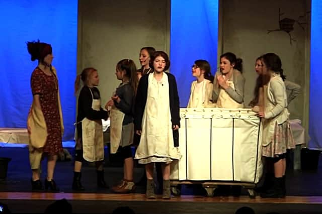 "Local students will be performing ""Annie"" this week -- as did students from Pennsylvania's Charles F. Patton Middle School, as shown here."