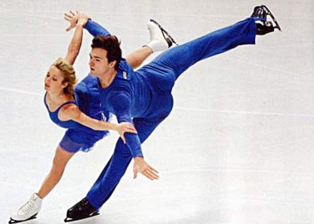 Anton Sikharulidze, shown here with his longtime partner Elena Berezhnaya, turns 40 on Tuesday.