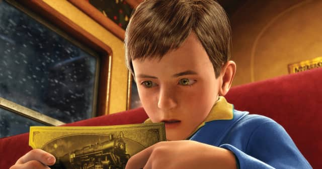 In the film, a doubting young boy takes an extraordinary train ride to the North Pole.