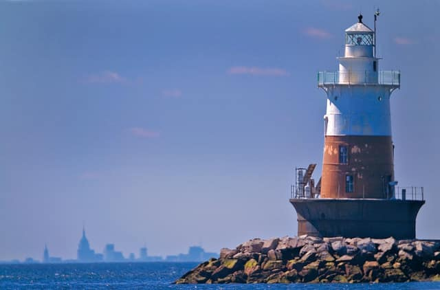 A kayaker was rescued after being stranded overnight on Norwalk's Greens Ledge Lighthouse.
