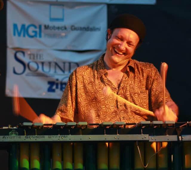 "Arthur Lipner headlines the Brasilian Vibes band performing at Wilton Library's ""Hot & Cool: Jazz at the Brubeck Room"" concert on Saturday."