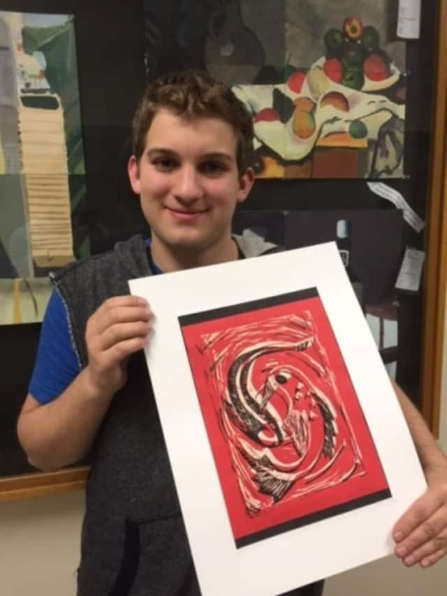 Student Gary Kraft is creator of this year's Arts Festival image/logo.