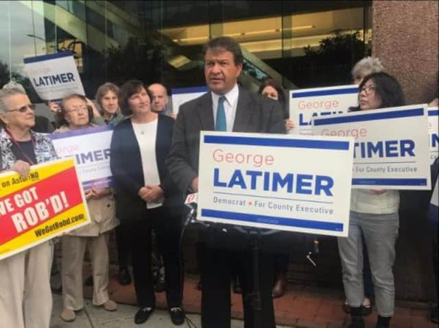 George Latimer is accusing Rob Astorino of making pay to play deals.