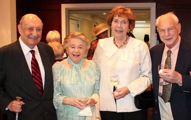 At Home on the Sound members, from left, Saul and Miriam Cohen, and Margaret and Ted Shultz. Courtesy At Home on the Sound.