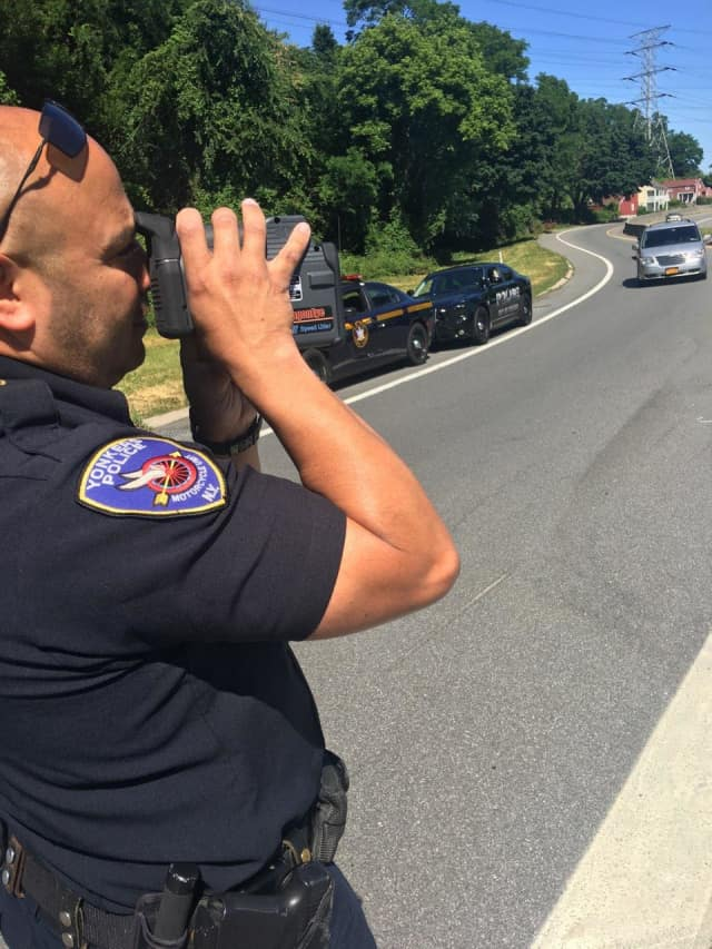 Dozens of tickets were dished out by Yonkers police officers and New York State Police troopers during a special speeding detail on the city's parkways.