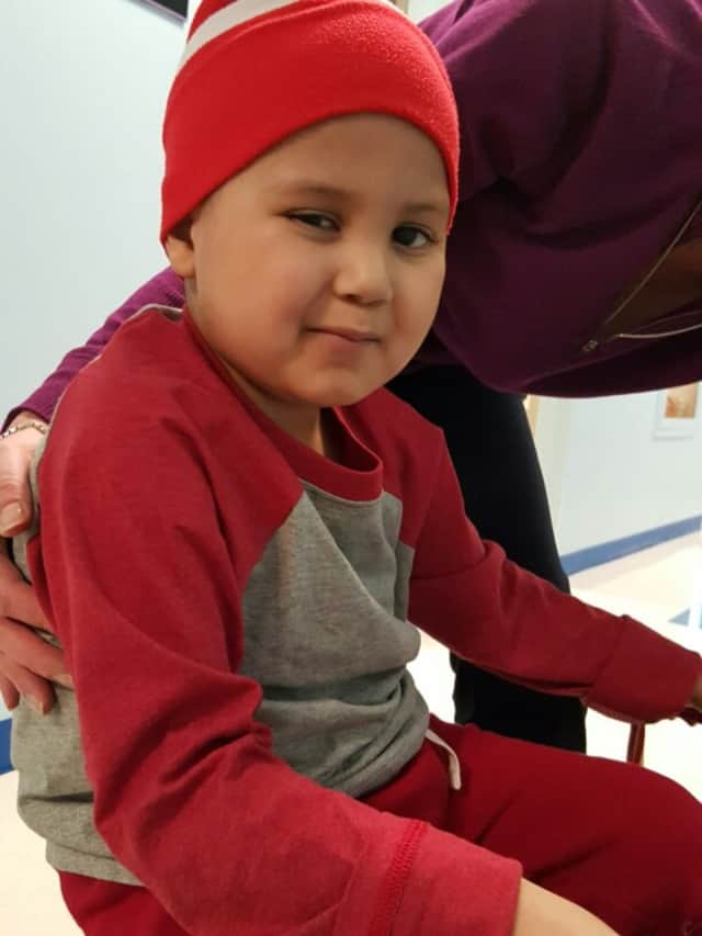 Dariel Ramirez, 5, of Lodi, in physical therapy.