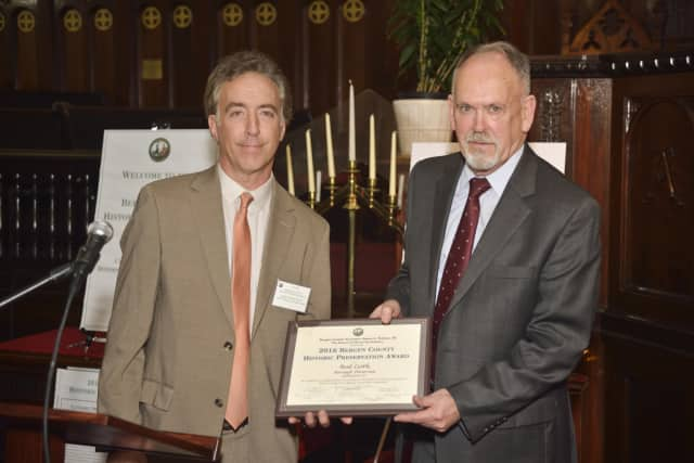 Rutherford Historian in Residence Rod Leith, right, is one of the 2016 Bergen County Historic Preservation award winners.