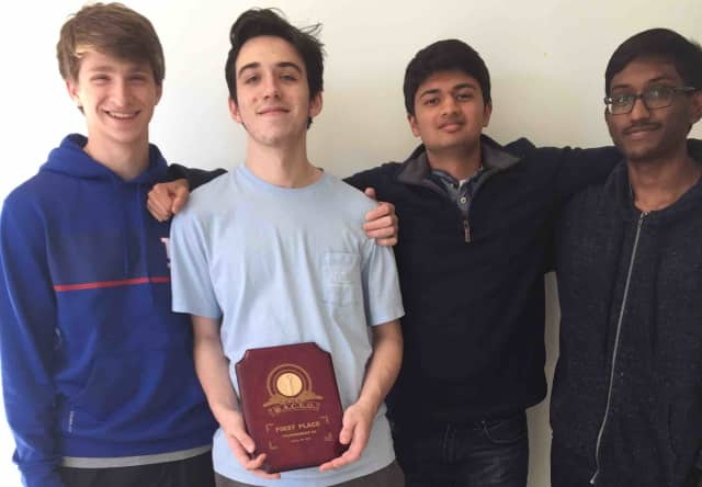 """Briarcliff High School's Academic Challenge """"A"""" team earned its second first- place finish of the school year at White Plains High School on Jan. 31."""
