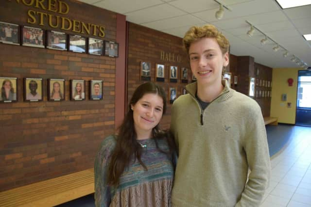 Briarcliff High School science research students Laura Charney and Christopher Fischer, both seniors, had their research published in recognized science journals.