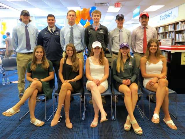 Briarcliff's 11 seniors who will be playing college sports next year.