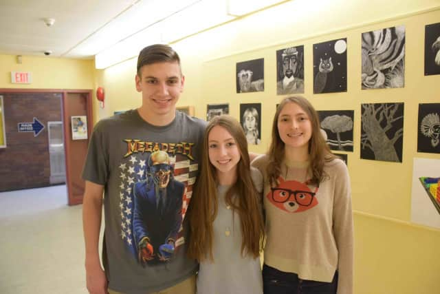 Briarcliff High School students Harrison Isaac, Devon Litchfield and Eliza Marcus received awards in the 2016 Scholastic Art and Writing Awards.