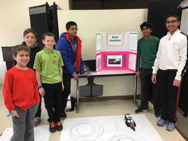 Briarcliff Middle School students recently placed fist during the Westchester Engineering Expo at White Plains High School.