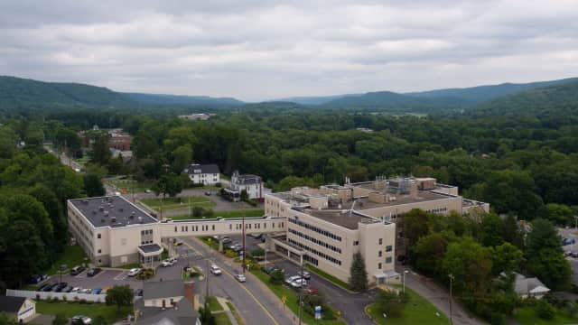Aerial view of Bon Secours Community Hospital.