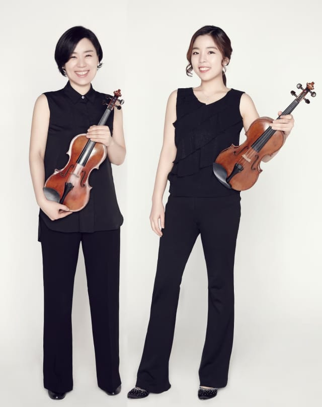 Yeon Kyung Joo (violin), right, and Yeonju Joo (viola), left, will perform with the Bergen Symphony Orchestra at the concert of works by Wagner, Bruch, and Tchaikovsky on at 7:30 p.m., Sept. 17, at Fort Lee High School Auditorium.