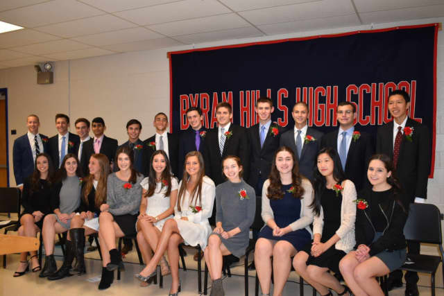 Byram Hills students were inducted into the Cum Laude Society.