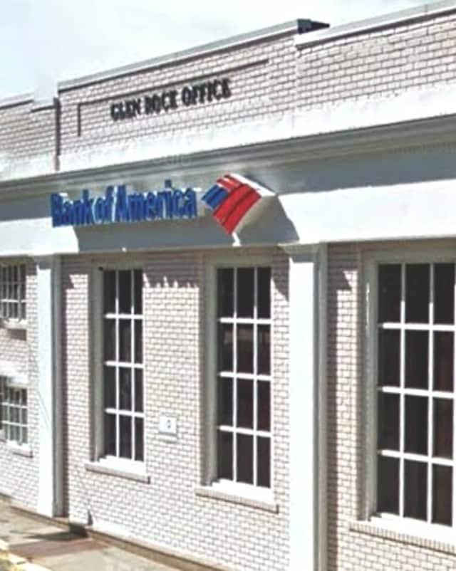 Glen Rock Bank of America branch on Rock Road