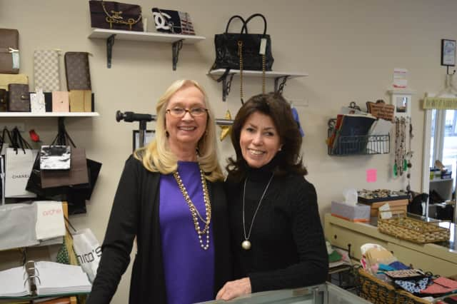 Barbara Kenyon, left, owns Barbara Ann's Consignment Boutique in Ramsey. She is pictured with longtime employee Melba O'Neill.