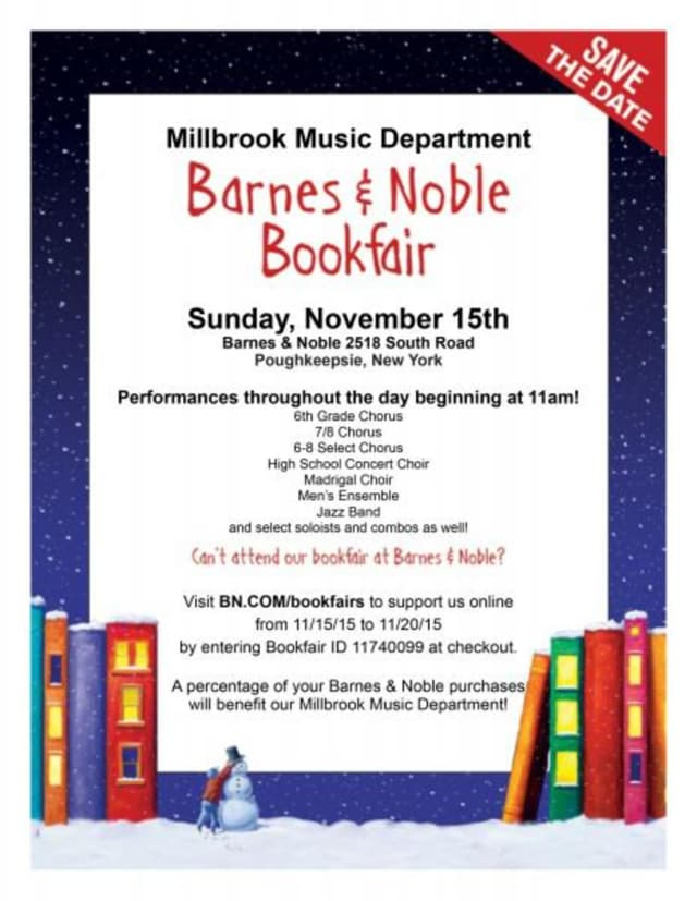 A percentage of Barnes & Noble purchases throughout the day will benefit the Millbrook Music Department
