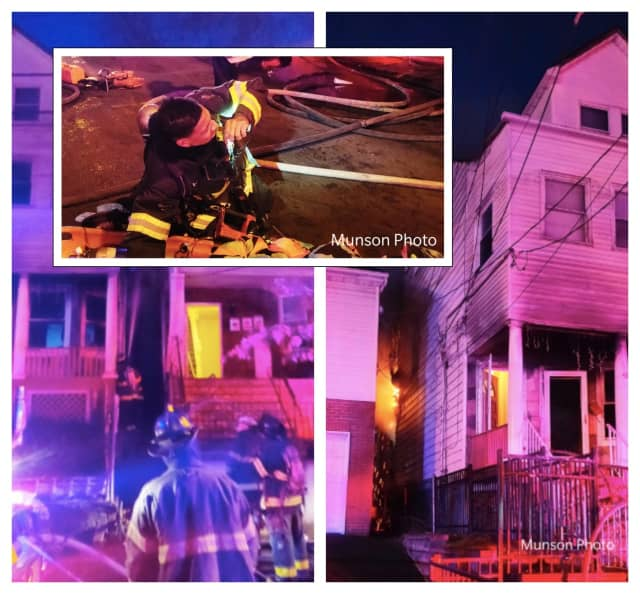 PHOTOS BY ROB MUNSON: Four families were displaced in a Sunday morning Newark fire, safety officials said.