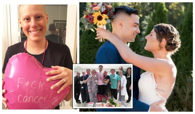 Jillian Allegretti of Andover and Max Allegretti of Montclair tied the knot last month -- cancer-free.