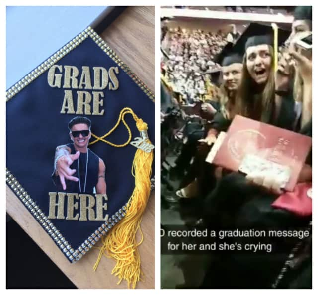 DJ Pauly D gave Ramapo College graduate Catherine Lane of Point Pleasant a shoutout during graduation Thursday,