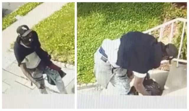 The man was seen walking up to the house on Carolina Avenue near Grove Terrace, taking the package and placing it in a plastic black bag around 11:30 last Thursday morning, Newark Public Safety Director Anthony F. Ambrose said.