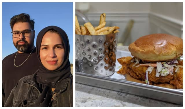 Usman Chaudhry and Amena Chaudhri will hold a grand opening ceremony for Namkeen Hot Chicken in Chatham on Oct. 30.
