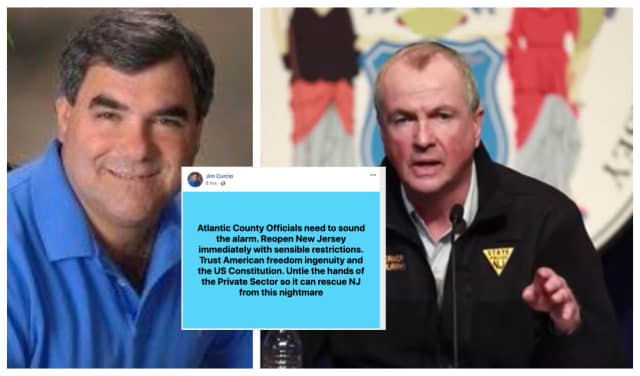 Gov. Phil Murphy condemns Atlantic County Surrogate Jim Curcio for a Facebook post calling for the reopening of New Jersey.