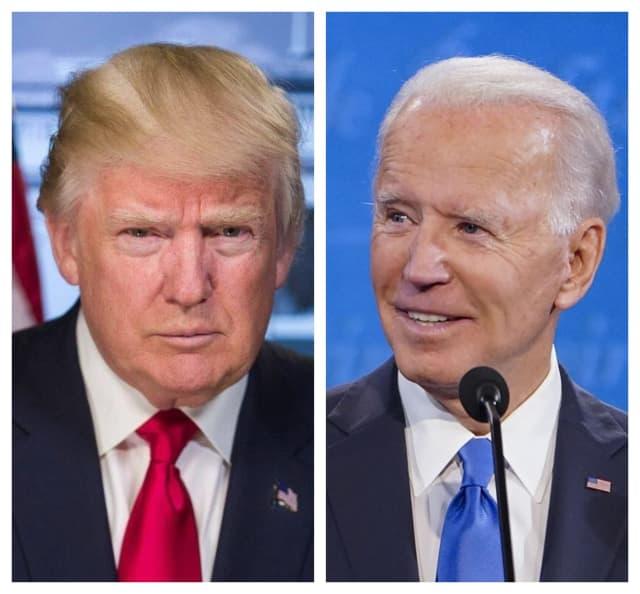 President Donald Trump and former U.S. VP Joe Biden