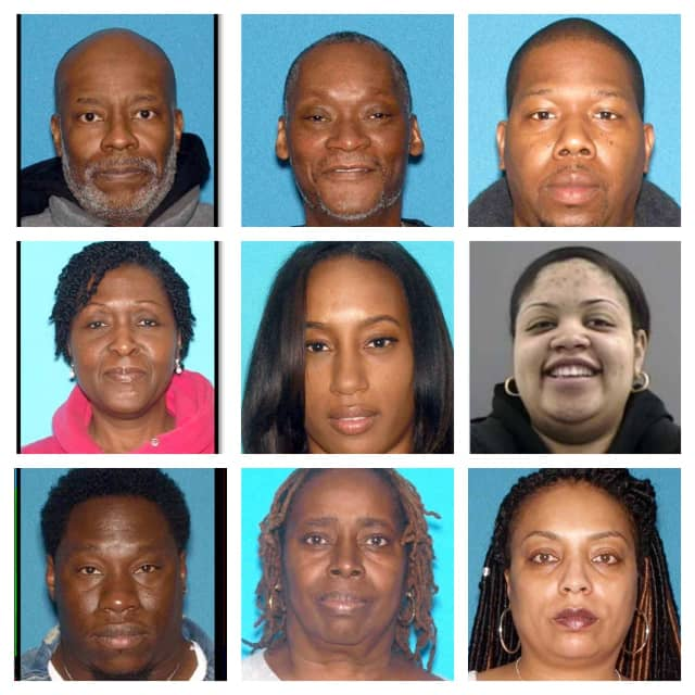 From left to right, top row: Albert Johnson, Travis Glover, Darnell Alford. Middle row: Cherryl Sharp, Jalisa Clark, 