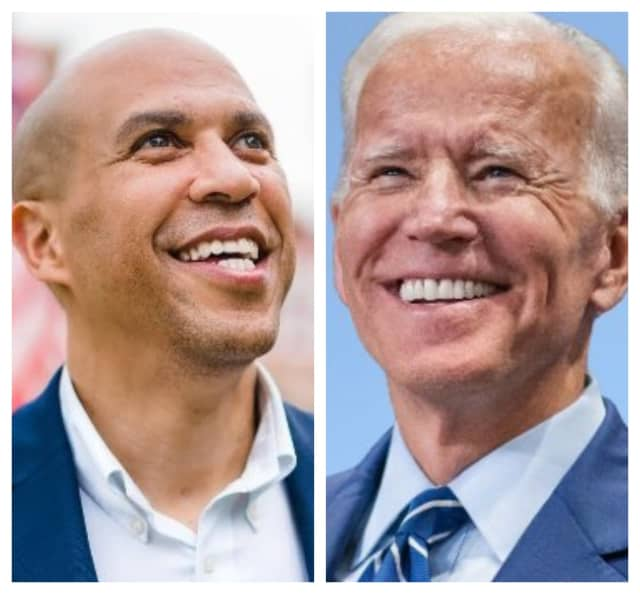 U.S. Senator Cory Booker and Former U.S. Vice President Joe Biden.