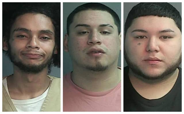 "From left: William J ""Tarzan"" Mariano, Alexander Roller-Huarotte of Paterson and Aaron Valdivieso of Paterson were arrested in connection to the home invasion. A fourth female suspect who was also charged."