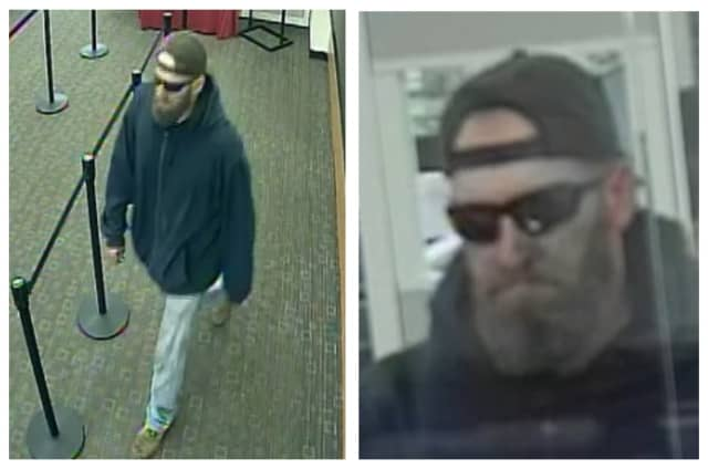 Know him? Suffolk County Police are asking for help identifying the man wanted in connection with a bank robbery.
