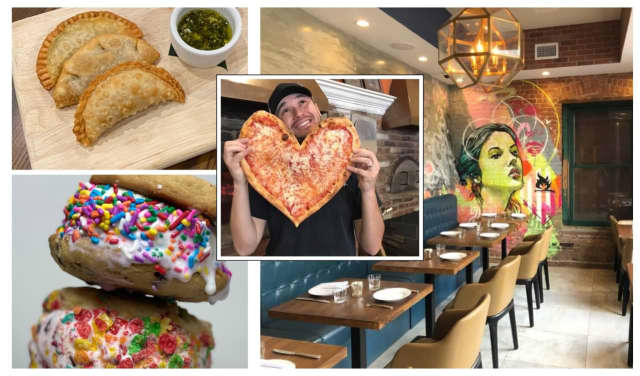 Sal Reina of Francesca Pizza, Emma Bistro (right and top left) along with Stack Creamery are opening in Bergen County.
