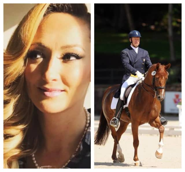 Lauren Kanarek, left, was identified as the victim allegedly shot by former U.S. Olympian Michael Barisone, right, at his Long Valley equestrian center Wednesday, reports say.