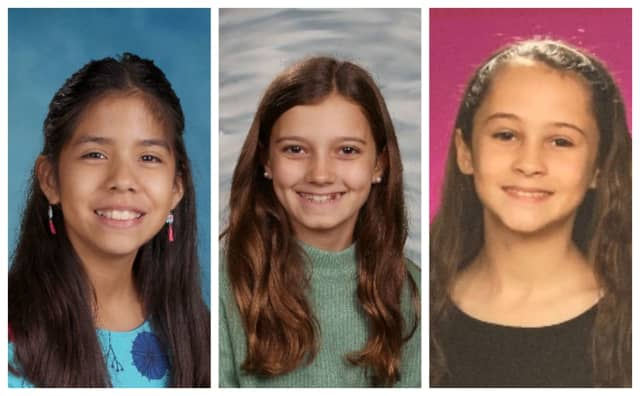 Camilla Chavez, Ella Kloby and Giulianna Zazzara, winners of the 2020 Partnership for a Drug-Free New Jersey's (PDFNJ) annual statewide Middle School PSA Challenge.